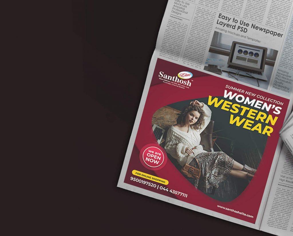 newspaper ad design in chennai
