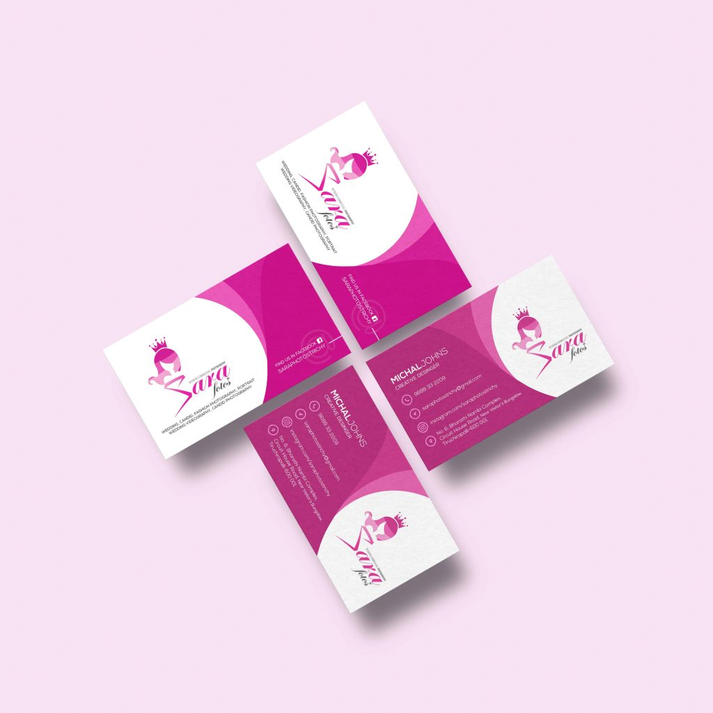 business card design trichy, business card design, flat business card design
