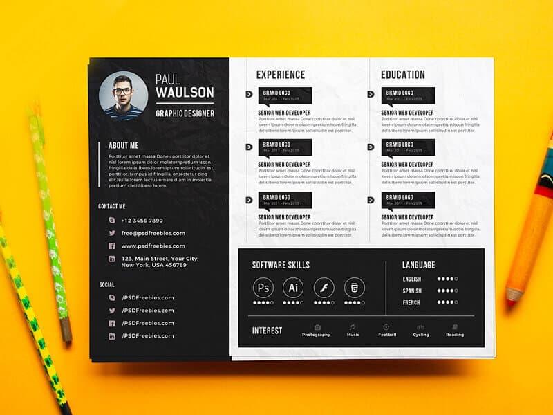 a graphic designer resume photoshop