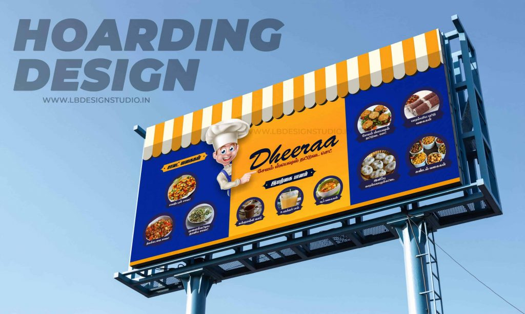 hoarding design,hoarding design for shop,hoarding design for restaurant,organic foods design,hoarding design trichy,hoarding design mockup