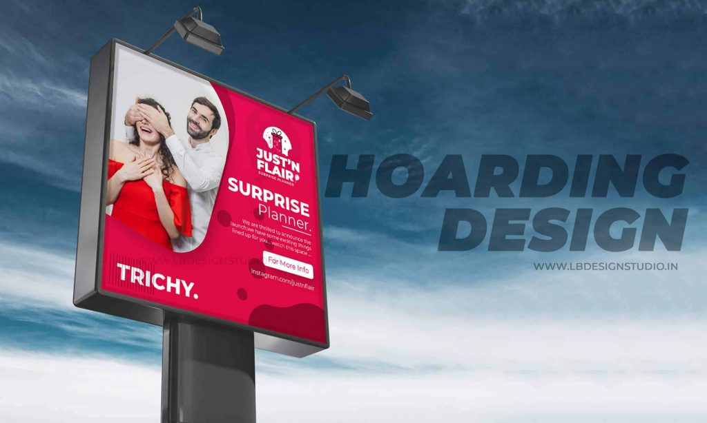 hoarding design,hoarding design for shop,hoarding design for events,justnflair,hoarding design chennai,hoarding design mockup