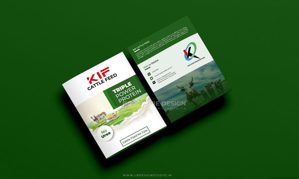 brochure design trichy, flyer pamphlet design trichy, cattle feed brochure design