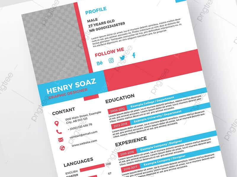 download free resume psd template 2021