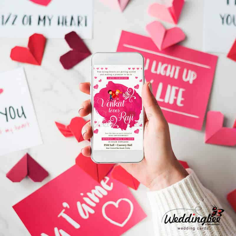 Wedding Engagement Invitation Design Trichy