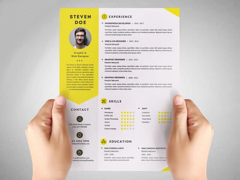 resume template psd 2020